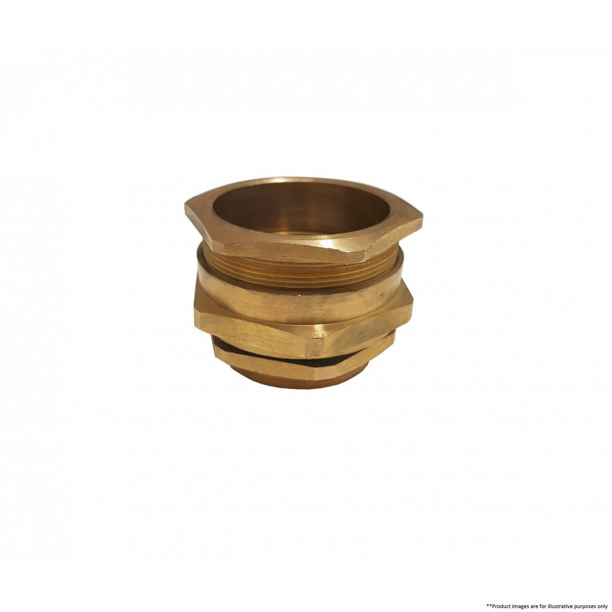 A brass cable gland captron by brands marine