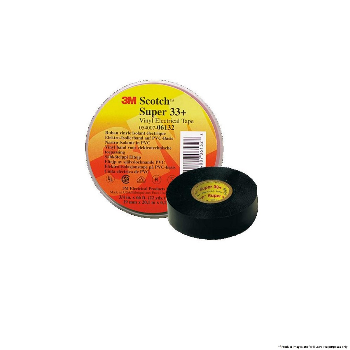 3M SCOTCH SUPER 33+ VINYL ELECTRICAL TAPE - 3M - By Brands
