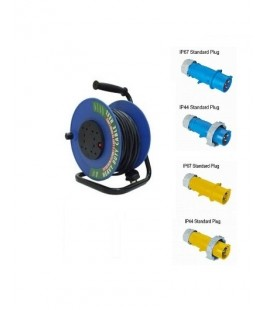 CUSTOMIZABLE PLUG HEAVY DUTY CABLE REEL WITH SURGE PROTECTION