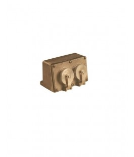PAULUHN 2584B-125 MARINE BRASS DOUBLE RECEPTACLE